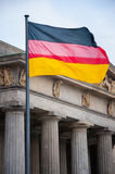 German flag. On the background of an old building royalty free stock images