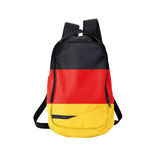 German flag backpack isolated on white Stock Image