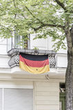 German flag on a balcony Royalty Free Stock Images