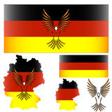 German flag and bird Royalty Free Stock Photography