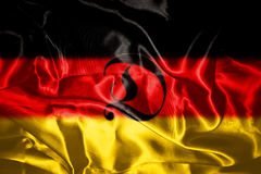 German flag blowing in the wind Royalty Free Stock Photo