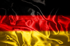 German flag blowing in the wind Stock Image