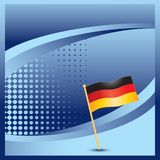 German flag on blue halftone advertisement Stock Photos
