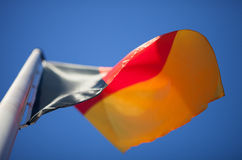 German flag in blue sky Stock Images