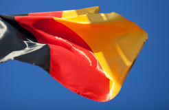 German flag in blue sky Royalty Free Stock Image