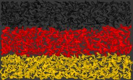 Flag of Germany - Smeared Burning Colors Design. German Flag in Burning Smeared Colors vector illustration