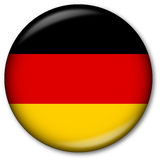 German Flag Button. Glassy Web Button with the German flag Royalty Free Stock Photos