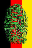 German flag circuit fingerprint. German flag circuit board fingerprint Royalty Free Stock Photo
