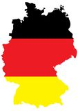 German flag on country map Stock Photo