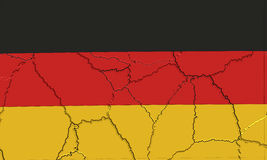 German Flag crushed and cracked Royalty Free Stock Image