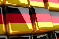 German flag-cube. Shiny cubes with german flag on it Royalty Free Stock Images