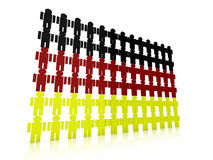 German flag in 3d composed of little men Stock Photography