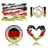 German flag, 3D illustration Stock Images