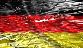 German flag, 3D illustration Royalty Free Stock Photography