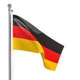 German flag. 3d german flag isolated on white Stock Images