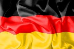 German flag - digital. German silky flag - digital illustration royalty free illustration