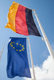 German flag and European flag Royalty Free Stock Images