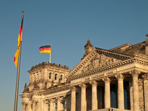 German Flag Flying over Reichstag Stock Image