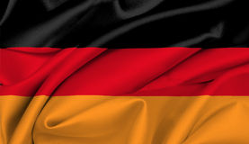 German Flag - Germany Royalty Free Stock Photography