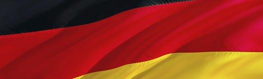 German flag. Flag of Germany. 3D Waving flag design,3D rendering. The national symbol of Germany background wallpaper. 3D ribbon,. Wallpaper, pattern background stock photo