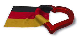 German flag and heart symbol stock illustration
