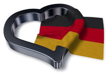 German flag and heart symbol Royalty Free Stock Image