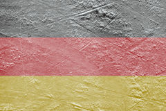 German flag on the ice Stock Images