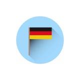 German Flag Icon Oktoberfest Festival Holiday Concept. Flat Vector Illustration Stock Photography