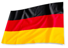German flag, isolated. German flag 3D isolated on white Stock Images