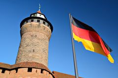 German Flag at Kaiserberg Royalty Free Stock Photo