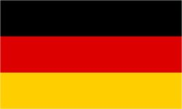 German flag. And language icon - isolated vector illustration Royalty Free Stock Photo