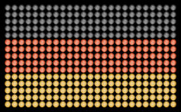 German Flag with Led Lights. German flag, made of led bulbs, each taken at short exposures, to make the detail, different to appear for each color in the lamps royalty free stock photos
