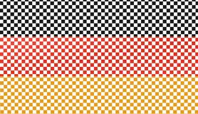 German flag like a chessboard, 3D illustration Stock Images