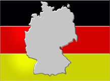 German flag and map Stock Photos