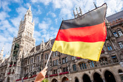 German flag in Munich Stock Image