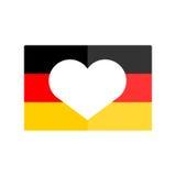 German flag national banner country vector illustration. Stock Image