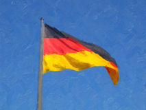 German flag oil paint Stock Images