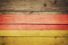 Free German Flag On A Wooden Background. Grunge Wall With A Flag. Related To October 3 German Unity Day. Rustic Backdrop, Design Or Stock Photo - 188307980