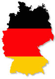 German Flag On Country Map Illustration Stock Photos