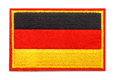 German Flag Patch. German Fabric Uniform Flag Patch Isolated on White Background Stock Image