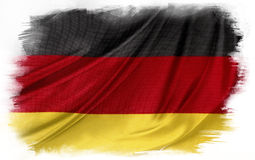German flag. On plain background royalty free stock images
