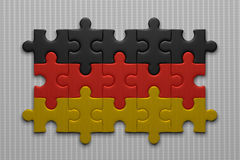 German flag of puzzle pieces Stock Images