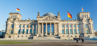German Flag with Reichstag Stock Photography