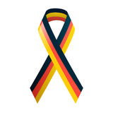 German flag. Ribbon in national colors. Black red and yellow tape. Vector illustration Royalty Free Stock Photos