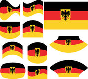 German flag set. Isolated on white - vector Royalty Free Stock Image