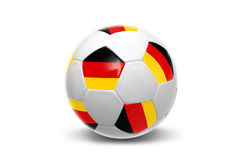 German flag soccer  ball Royalty Free Stock Photo