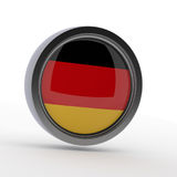 German flag on a steel badge Royalty Free Stock Photography