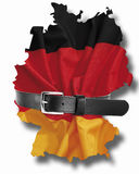 German flag with tight belt Stock Photo