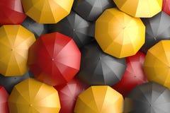 German Flag Umbrellas Stock Photos