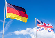 German flag and Union flag Royalty Free Stock Images